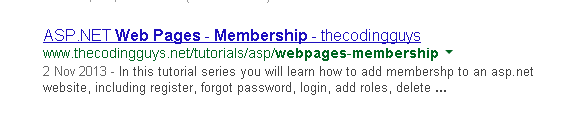 Document Title In SERP